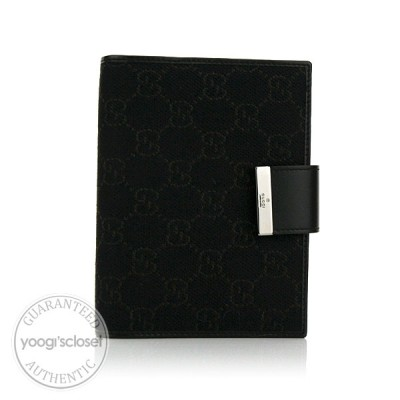 Gucci Dark Brown GG Fabric Small Ring Agenda