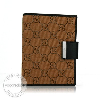 Gucci Beige GG Fabric Small Ring Agenda