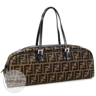 Fendi Tobacco Zucca Canvas East/West Satchel Bag