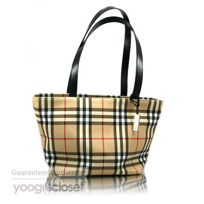 Burberry Classic Nova Check Bucket Tote Bag