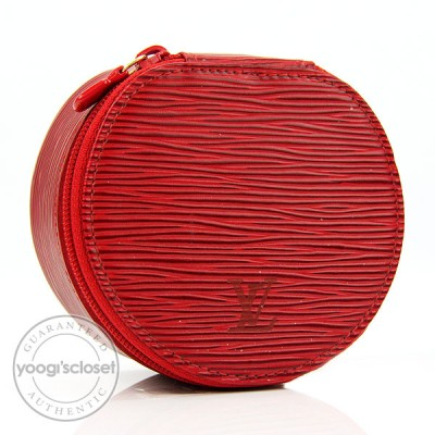 Louis Vuitton Red Epi Ecrin Bijoux Jewelry Case