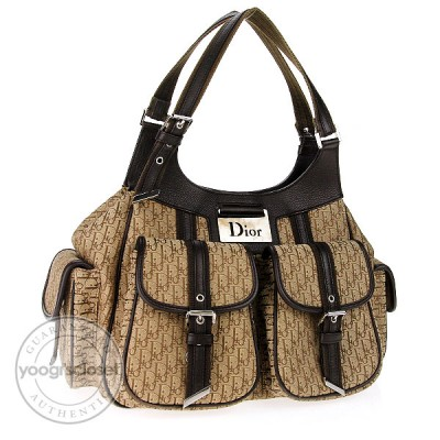 Christian Dior Beige/Brown Diorissimo Hobo Bag