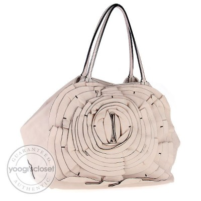 Valentino Pink Nappa Leather Petale Tote Bag
