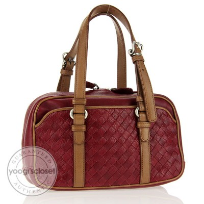 Bottega Veneta Brick Woven Leather Small Satchel Bag
