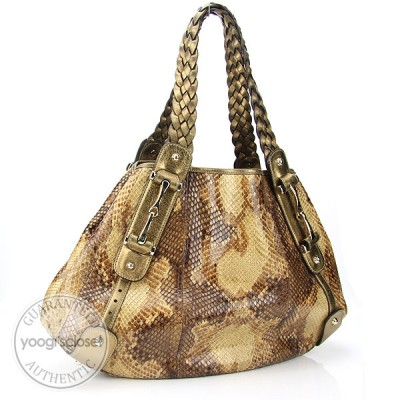 Gucci Python Medium Pelham Shoulder Bag