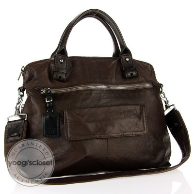 Chloe Dark Brown Lambskin Tekla Tote Bag