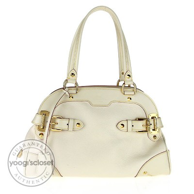Louis Vuitton White Suhali Le Radieux Bag