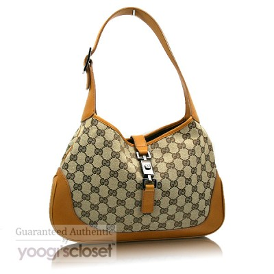 Gucci Beige/Tan Jackie O Hobo Bag