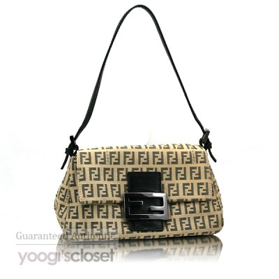Fendi Beige/Brown Mini Mama Zucchino Bag