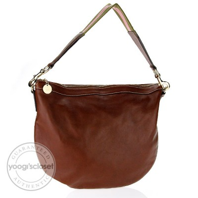 Gucci Brown Leather Medium Hobo Bag