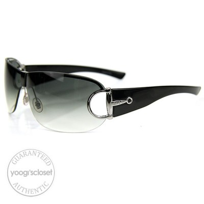Gucci Black Horsebit Logo Sunglasses 2746/S