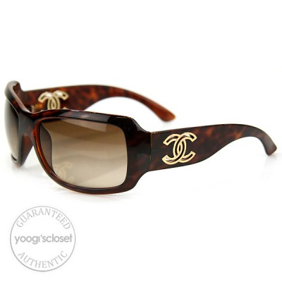 Chanel 6018 Tortoise Shell Frame with Brown Lens Sunglasses