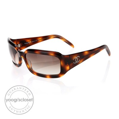 Chanel Brown Gradient Lenses Tortoise Shell Sunglasses 5064-B