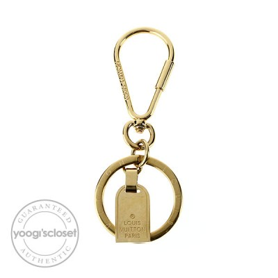 Louis Vuitton Gold Metal Mini-Travel Key Holder