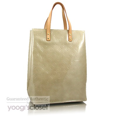 Louis Vuitton Beige Monogram Vernis Reade MM Tote Bag