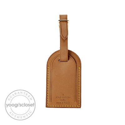 Louis Vuitton Natural Cowhide Leather Luggage Tag