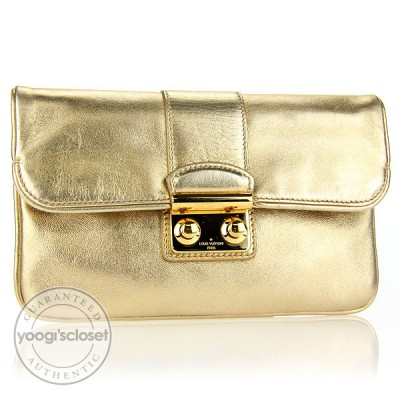 Louis Vuitton Limited Edition Sophia Coppola Gold Lambskin Slim Clutch