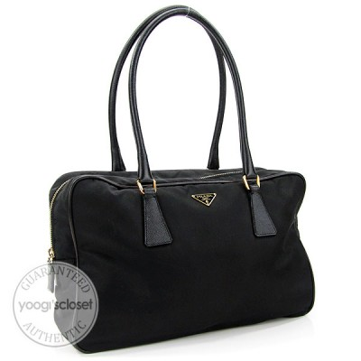 Prada Black Nylon Small Tote Bag 1M0667