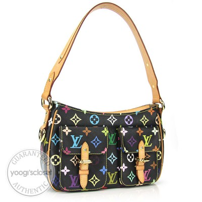 Louis Vuitton Black Monogram Multicolore Lodge PM Bag