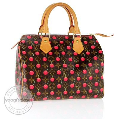 Louis Vuitton Limited Edition Cerise Speedy 25 Bag