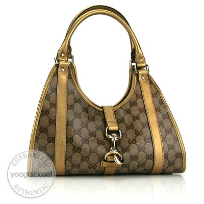 Gucci Beige/Ebony Crystal GG Joy Small Shoulder Bag