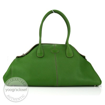 Tod's Green Leather Girelli East/West Bag