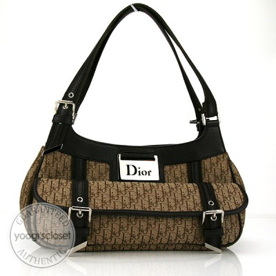 Christian Dior Beige/Brown Diorissimo Shoulder Bag