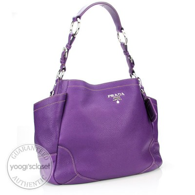Prada Petunia Vitello Daino Pocket Tote Bag BR3793