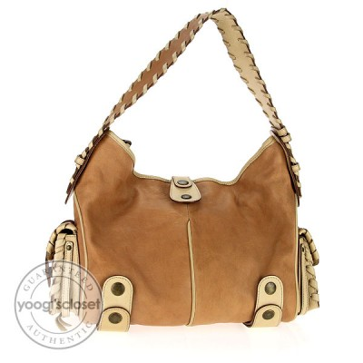 Chloe Beige Leather Medium Silverado Hobo Bag