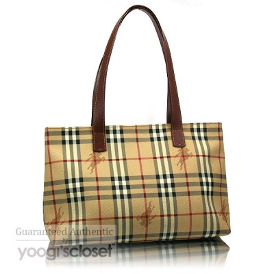 Burberry Haymarket Nova-Check Tote Bag