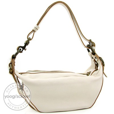Marc Jacobs Egg Shell Leather Turn-Lock Katie Shoulder Bag