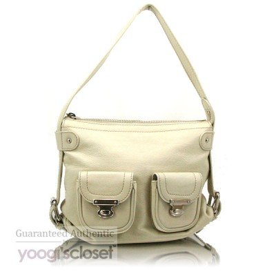 Marc Jacobs White Leather Multi-pocket Shoulder Bag
