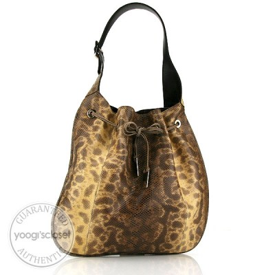 Gucci Limited Edition Beige Snakeskin Hobo Bag
