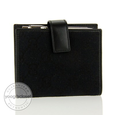 Gucci Black GG Fabric Small Memo Notebook