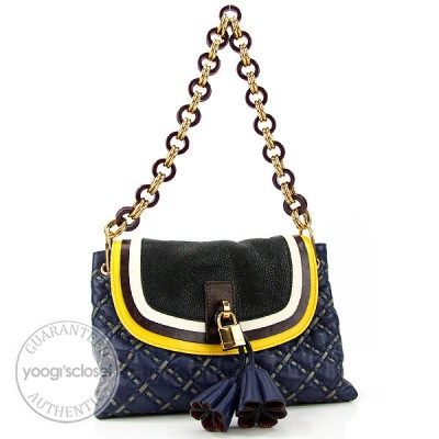 Marc Jacobs Navy Blue Leather Maria Shoulder Bag