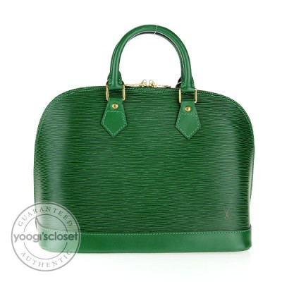 Louis Vuitton Borneo Green Epi Leather Alma Bag