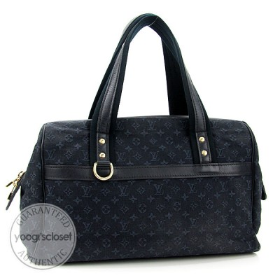 Louis Vuitton Blue Mini Lin Monogram Josephine GM Bag