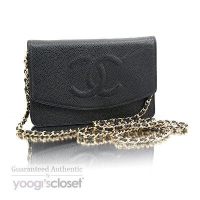 Chanel Black Caviar Wallet-Clutch Bag