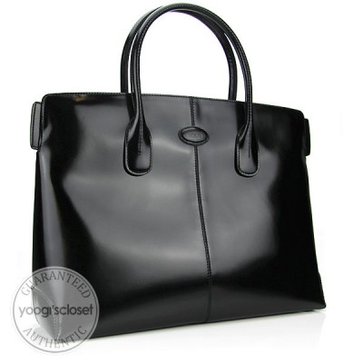 Tod's Black Leather Classic D-Bag