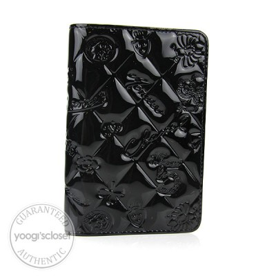 Chanel Black Glazed Calfskin Embossed Diary Agenda Cover