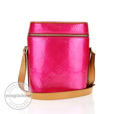 Louis Vuitton Fuchsia Monogram Vernis Vertical Sullivan Bag