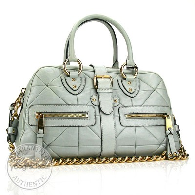 Marc Jacobs Slate Leather Patchwork Venetia Bag