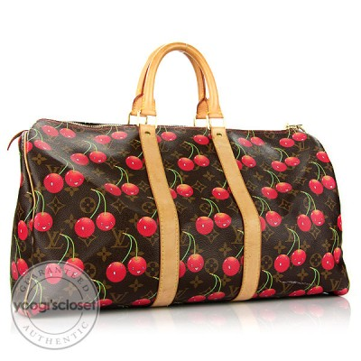 Louis Vuitton Monogram Cerises Keepall 45 Travel Bag