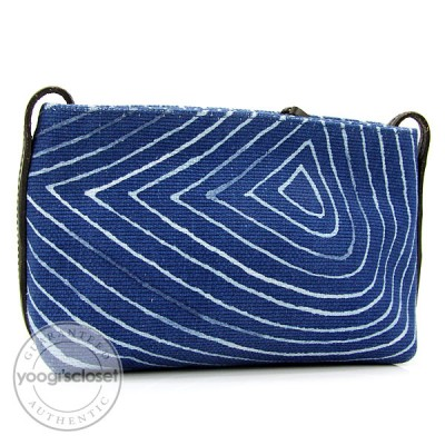 Bottega Veneta Blue Canvas Cosmetic Case