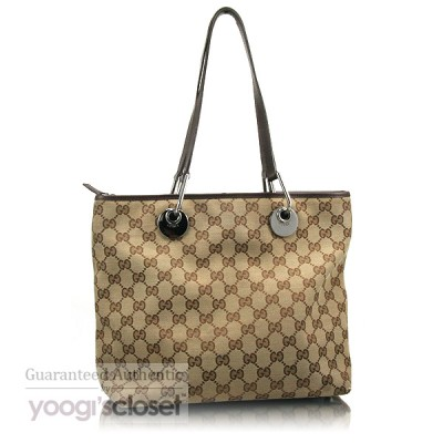 Gucci Beige/Ebony GG Fabric Eclipse Tote Bag