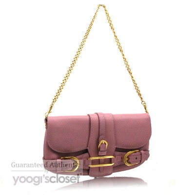 Jimmy Choo Lilac Leather Troy Clutch Bag