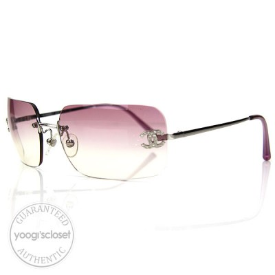 Chanel Pink Gradient Tint Sunglasses 4017