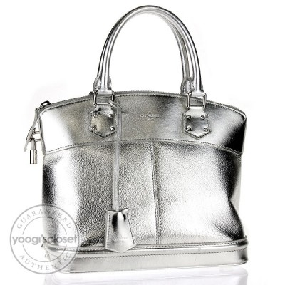Louis Vuitton Silver Suhali Lockit PM Bag