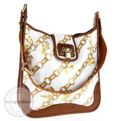 Louis Vuitton Limited Edition White Monogram Charms Musette Bag