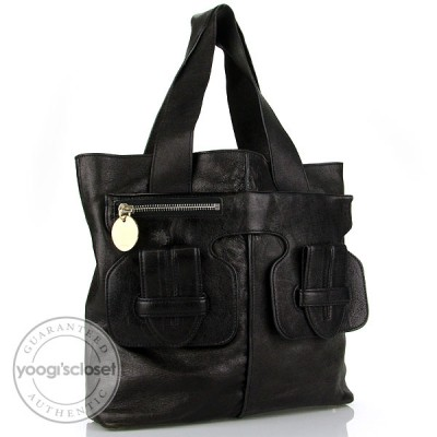 Chloe Black Leather Saskia Tote Bag